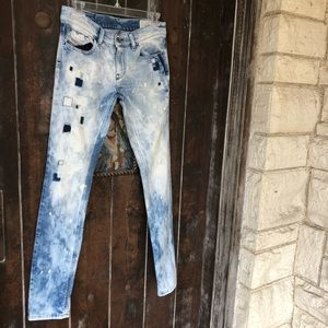 Diesel | Livy Acid Washed Patched leg Jeans